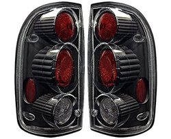 Winjet 01-04 Toyota Tacoma Altezza Tail Light - Black/Clear