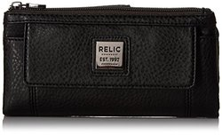 Relic Bryce Checkbook Wallet Black Pebble