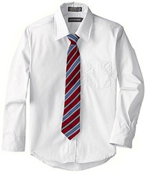 Dockers Big Boy's Shirt & Tie Set - White - Size: Small