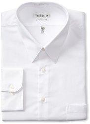 "Men's Classic-Fit Non-Iron Poplin Dress Shirt - White - Size: 15.5""-34/35"""