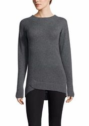 Cullen Women's Cashmere Asymmetric Tunic Sweater - Grey - Size: Large