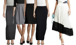 Zero Degrees Celsius - 1502618 Ivory L Pleated Midi Skirt