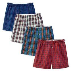 Fruit of the Loom Premium Men's Cotton Boxers - Assorted - Size: Medium