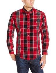 U.S. Polo Assn. Men's Classic Fit Plaid Shirt - Winning Red - Size: 2XL