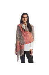 Steve Madden Stripey Lightweight Boucle Day Wrap - Multi - Size: One