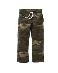 Carter's Little Boys Microfleece Camo Active Pants - Green - Size: 3T