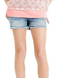 Squeeze Girl's Glitter Embellished Shorts Frayed Hem -  Size: 10