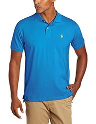 U.S. Polo Assn. Men's Solid Polo With Small Pony - Teal Blue - Size: M