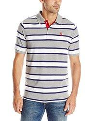 U.S. Polo Assn. Men's Stripe Polo T-shirt - Grey - Size: XL