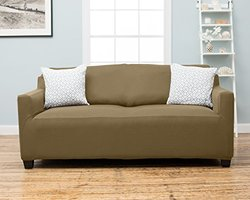 Dawson Collection Twill Strapless Slipcover- Beige - Size: Sofa