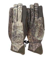 Huntworth Men's Gunner Performance Fleece Gloves - Green Camo - Size: XL