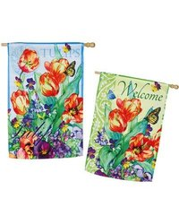 Evergreen Enterprises, Inc Spring Flowers Garden Flag