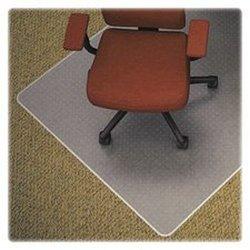 """Lorell LLR82823 Carpet Studded Vinyl Chair Mats, 3.74"""" Height X 26.77"""" Width X 26.77"""" Length"""