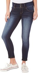 YMI Juniors Triple Button Ankle Jeans - Super Dark Wash - Size: 5