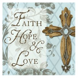 Thirstystone Faith Hope and Love Cross Occasions Coasters Set (Set of 4