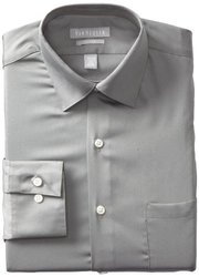 "Van Heusen Men's Lux Solid Dress Shirt - Gray - Size: 15.5""x32""-33"""