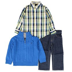 Nautica Toddler Boy's 3-pc. Shirt/Sweater/Jeans Set - Blue - Size: 3T