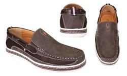 Frenchic Collections Men's Slip On Loafers - Brown - Size: 9.5