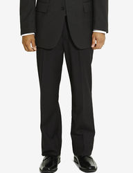 Arrow Men's Herringbone Dress Pants - Black - Size: 40 X 30