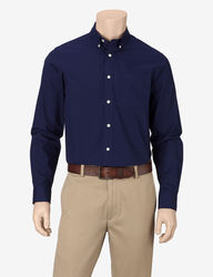 Dockers Men's Hanging Solid Color Woven Shirt - Navy - Size: Small