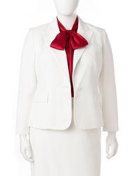Kasper Women's Plus-size Glazed Melange Jacket - Ivory - Size: 16W