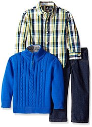 Nautica Little Boys 3-Piece Sweater Denim Pants Set - Blue - Size: 3T
