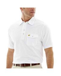 Jack Nicklaus Men's Short Sleeve Golden Bear Polo Tshirt - White - Size: M