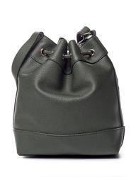 Signature Studio Women's Stud Perforated Bucket Handbag - Olive