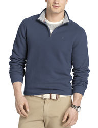 Izod Men's 1/4 Zip Fleece Pullover - Oatmeal - Size: Large