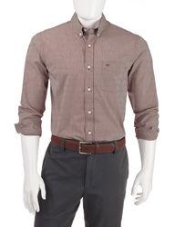 Dockers Men's Mini Check Woven Shirt - Merlot - Size: Large