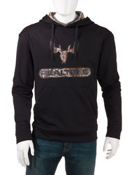 Realtree Men's Fleece Hoodie - Black - Size: Large