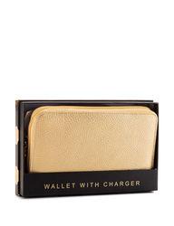 Tri Coastal Women's Solid Color Charging Wallet - Black