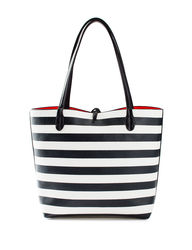 Valerie Stevens Medium Reversible Tote Handbag - Black/White