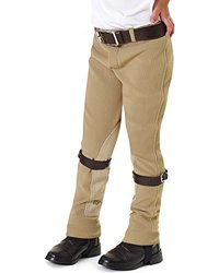 Equistar Boys' Equituff Pull-On Breeches - Tan - Size: 6