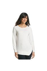 Jones Sport Women's Solid Color Asymmetrical Top - Misses - White - Large