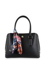 London Fog Women's Clara Saffiano Dome Handbag - Black