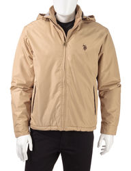 U.S. Polo Assn Men's Solid Color Golf Jacket - Khaki - Size: L