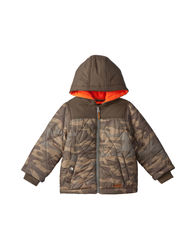 Carter's Boys' Toddler Puffer Jacket - Camo - Size: 4-7