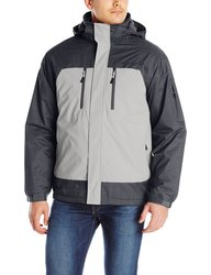 Free Country Men's Dobby 3-in-1 System Jacket w/ Puffer Inner -Stone - XXL