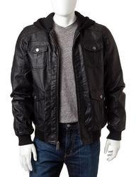 Whispering Smith Men's Brown Beetham Hooded Jacket - Black - XXL