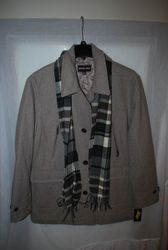 Michael Kors Men's Wool Coat and Scarf - Grey - Size: XL