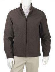 London Fog Men's Bellevue Microfiber Jacket - Dark Brown - Size: Large