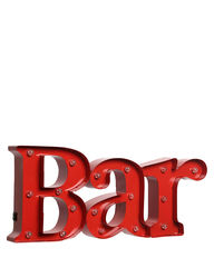 Black Series Bar Sign for Indoor & Outdoor Decor - Red