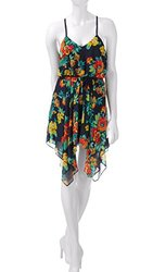 My Michelle Women's Junior's Hawaiian Floral Print Dress - Size: M