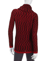 Calvin Klein Women's Marled Knit Sweater - Red Multi - Size: XL
