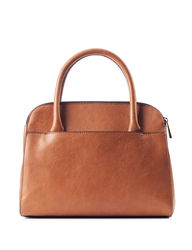 London Fog Women's Desiree Dome Satchel Handbag - Tan