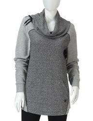 GV Sport Women's Tonal Pullover Sweatshirt - Black - Size: Small