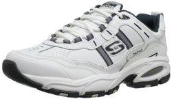 Skechers Men's Vigor 2.0 Serpentine Running Shoes - Navy/White - Size:12
