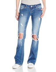 UNIONBAY Women's Juniors Irina Destructed Jeans - Glacier - Size: 0