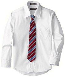 Dockers Big Boy's Shirt & Tie Set - White - Size: Medium
